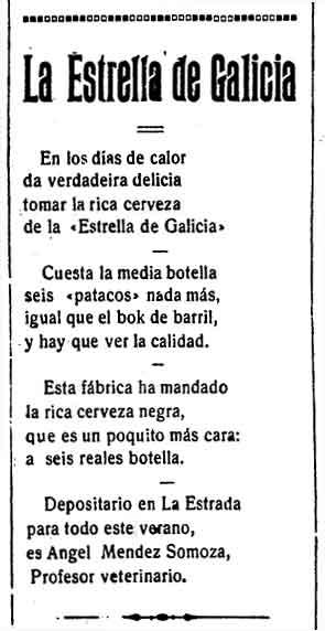 ANUNCIO DE ESTRELLA DE GALICIA